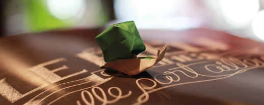 escargot origami art japonais du pliage du papier animation enfants anniversaire